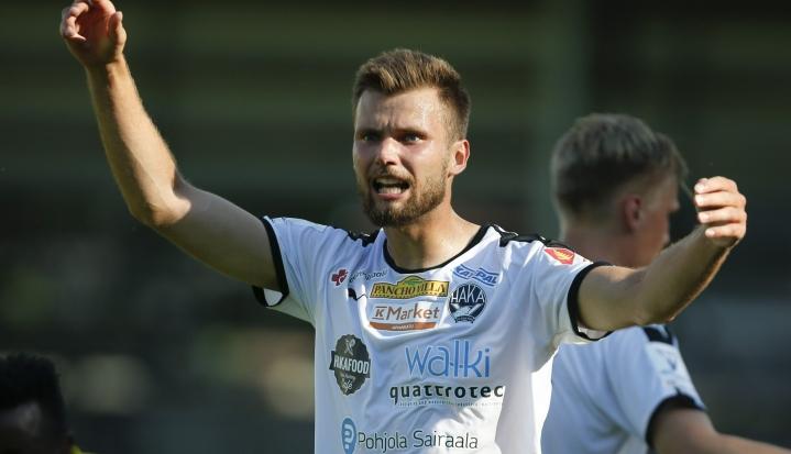 Haka nujersi SJK:n maalein 4 -0. LEHTIKUVA / Kalle Parkkinen