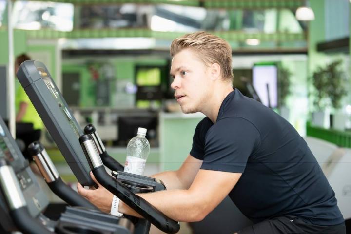 Petrus Palmu harjoitteli kesällä kotikaupungissaan Joensuussa.