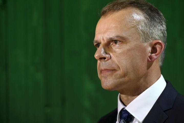 Pylväs piti puheensa keskustan kesäkokouksessa Seinäjoella elokuun lopulla. LEHTIKUVA / Heikki Saukkomaa