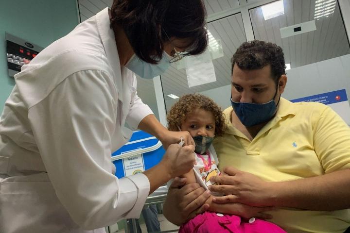 Kuuba on rokottanut myös lapsia omalla rokotteellaan. Lehtikuva/AFP