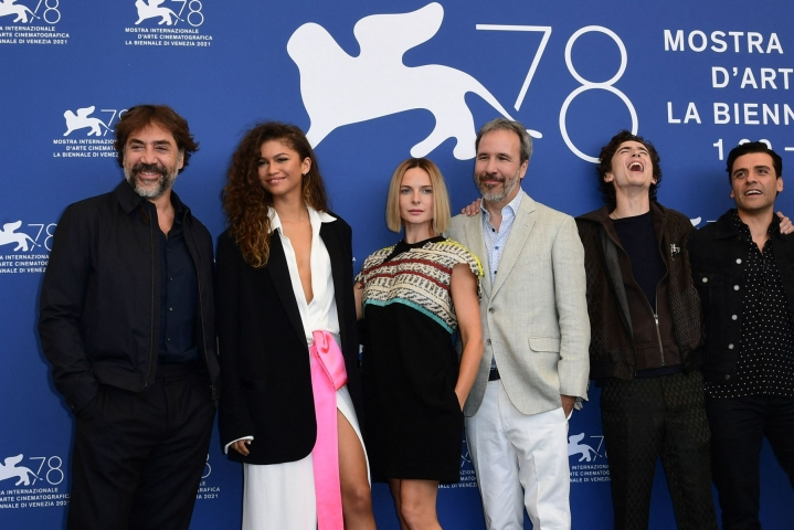 Denis Villeneuven Dyyni sai perjantaina maailmanensi-iltansa Venetsian elokuvajuhlilla. LEHTIKUVA/AFP