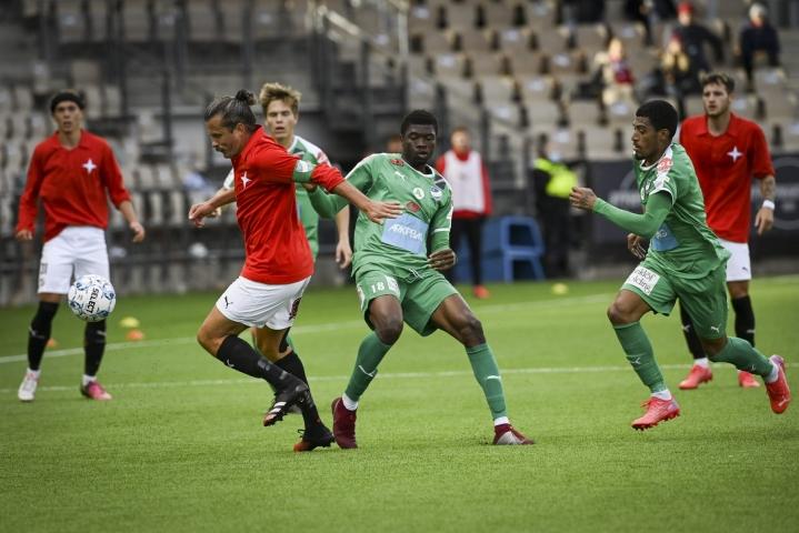 HIFK hävisi liigapaikasta taistelevalle IFK Mariehamnille maalein 0–3 (0–2). LEHTIKUVA / Emmi Korhonen