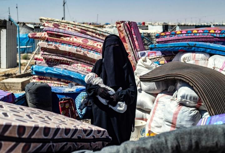 Näkymää al-Holin leiriltä 14. syyskuuta. LEHTIKUVA/AFP