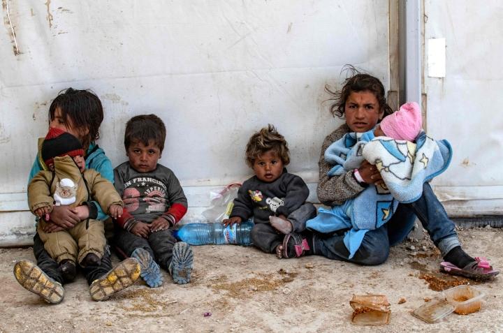 Pelastakaa Lapset peräänkuuluttaa rikkaita länsimaita kotiuttamaan leireillä olevia lapsia ja heidän perheitään. LEHTIKUVA / AFP