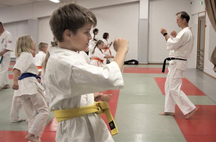 Joen Dojo -seurassa perheet pääsevät yhdessä harrastamaan ja kehittämään karatetaitojaan.