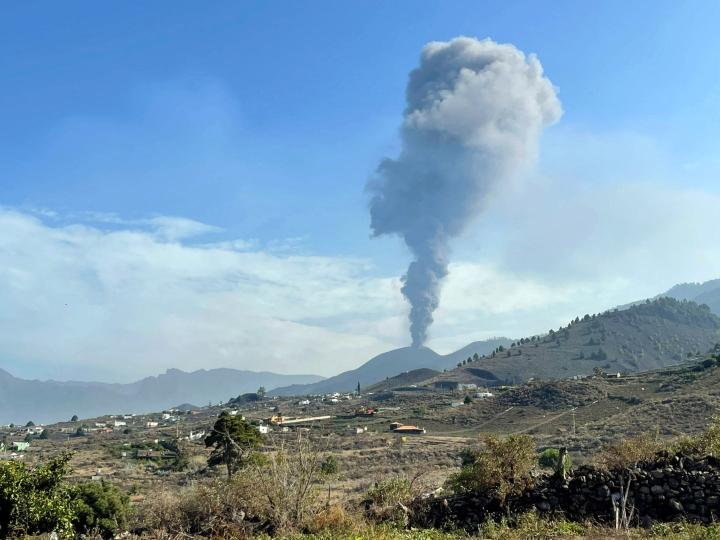 Cumbre Vieja -tulivuori hiljeni ainakin hetkellisesti Kanariansaarilla. LEHTIKUVA/AFP