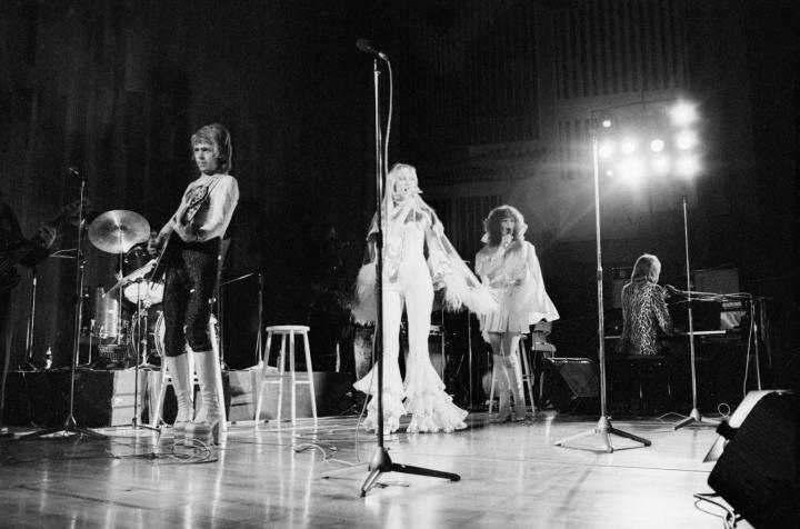 Abba konsertoimassa Finlandia-talossa Helsingissä tammikuussa 1975. LEHTIKUVA / STEVE POWELL