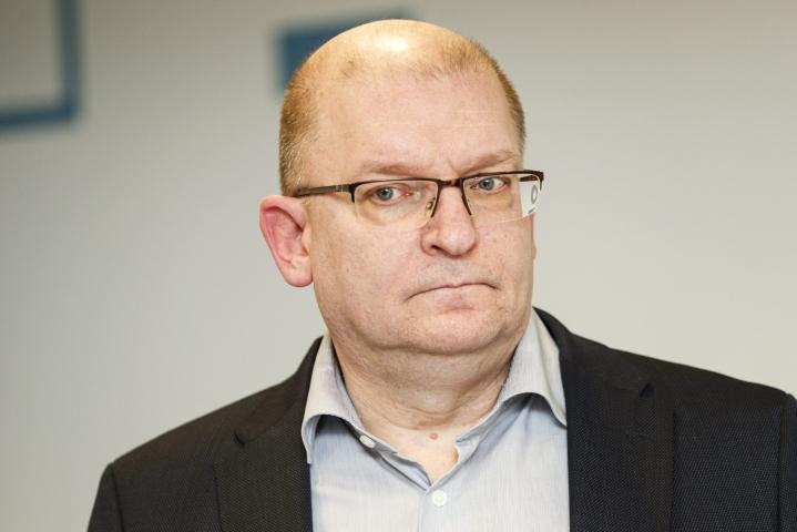 Riku Aalto on Teollisuusliiton puheenjohtaja. LEHTIKUVA / Roni Rekomaa