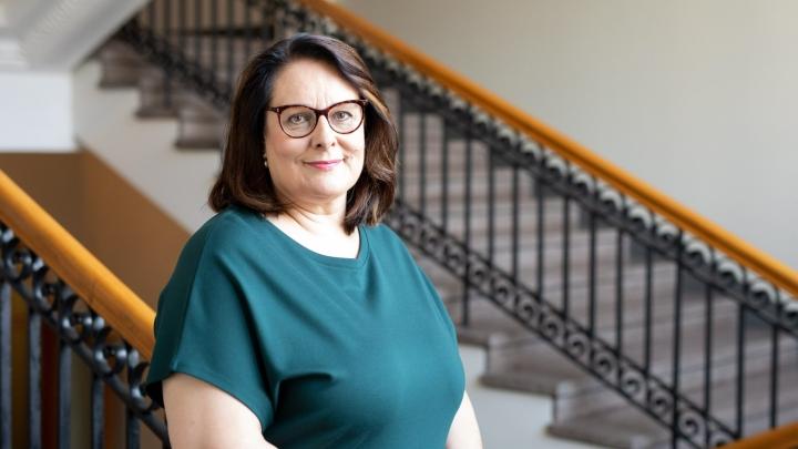 Päivi Paasikoski on valtioneuvoston uusi viestintäjohtaja. LEHTIKUVA / handout / Fanni Uusitalo