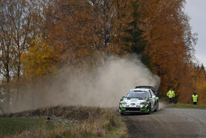 Neljäntenä kokonaiskilpailussa on Toyotan Esapekka Lappi. LEHTIKUVA / Jussi Nukari