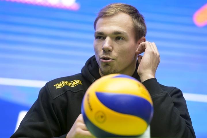 Loimun Kristaps Smits teki 13 pistettä. LEHTIKUVA / Vesa Moilanen