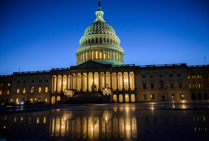 Senaatin äänestyksessä hyväksytty velkakaton nosto tarvitsee vielä edustajainhuoneen hyväksynnän. LEHTIKUVA / AFP