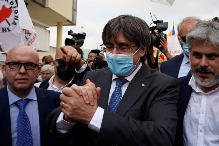 Italialainen tuomioistuin odottaa Euroopan unionin tuomioistuimen päätöstä Carles Puigdemontin syytesuojasta. LEHTIKUVA/AFP