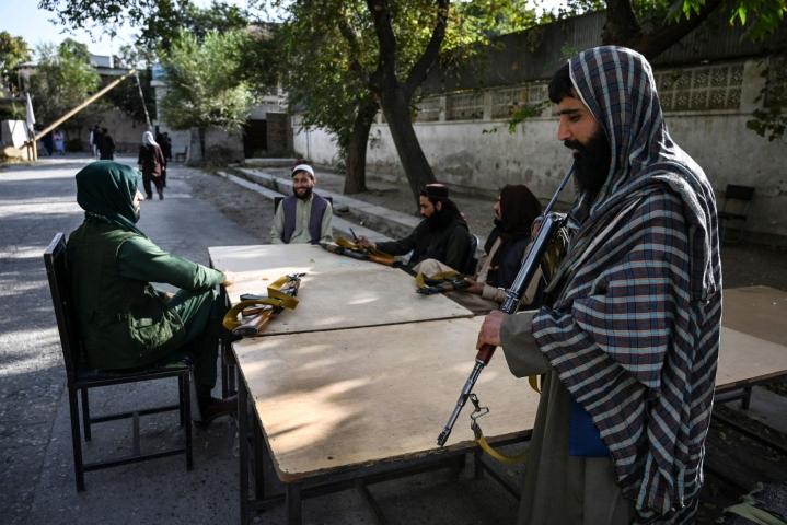 Taleban otti vallan Afganistanissa elokuussa. LEHTIKUVA / AFP