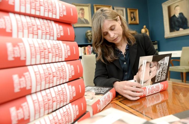 Toimittaja Catherine Belton asui Venäjällä vuodet 1998–2014 ja toimi pitkään Financial Timesin Moskovan-kirjeenvaihtajana. LEHTIKUVA / MIKKO STIG