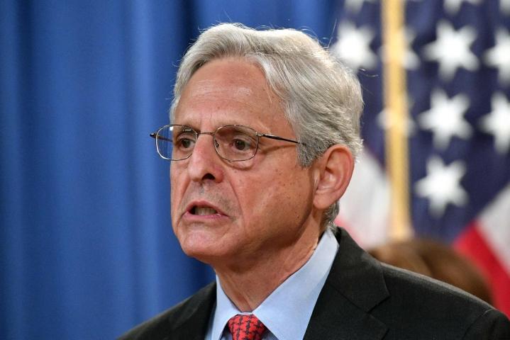 Garland toteaa oikeusministeriölle ja liittovaltion poliisi FBI:lle laaditussa muistiossa, että oikeusministeriö pyrkii puuttumaan häirintään tiukasti. LEHTIKUVA/AFP