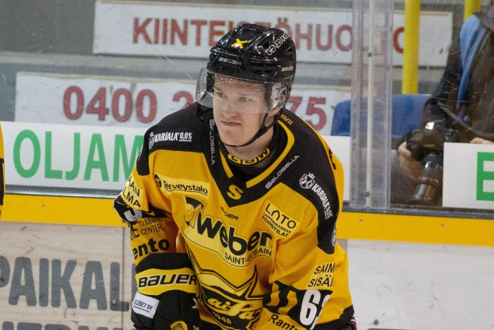 SaiPa katkaisi viiden ottelun pituisen tappioputkensa Mikko Juusolan jatkoaikaosumalla maalein 3–2. Lehtikuva / Lauri Heino