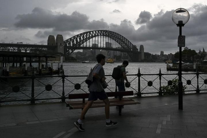 Uuden Etelä-Walesin osavaltiossa, jossa Sydneykin sijaitsee, on täysin rokotettu yli 73 prosenttia yli 16-vuotiaista. LEHTIKUVA/AFP