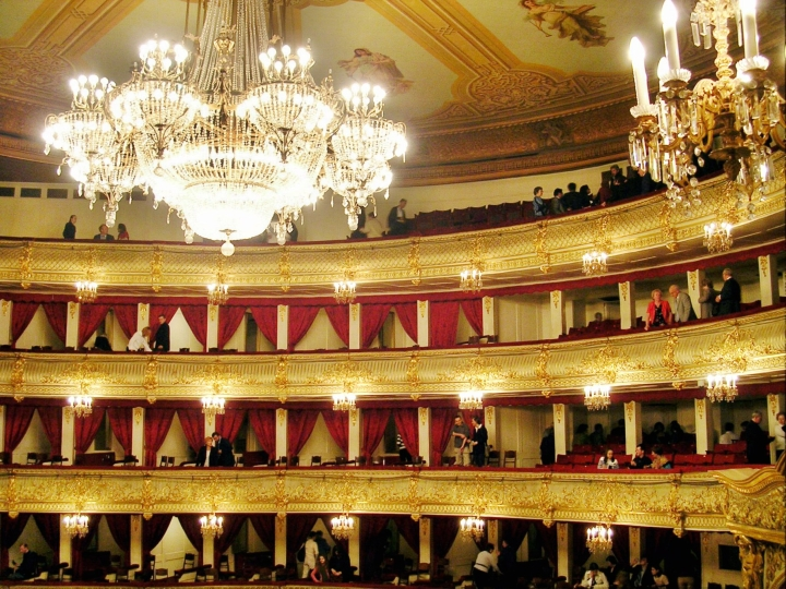 Bolshoi-teatteri Venäjän Moskovassa. LEHTIKUVA / TIMO JAAKONAHO