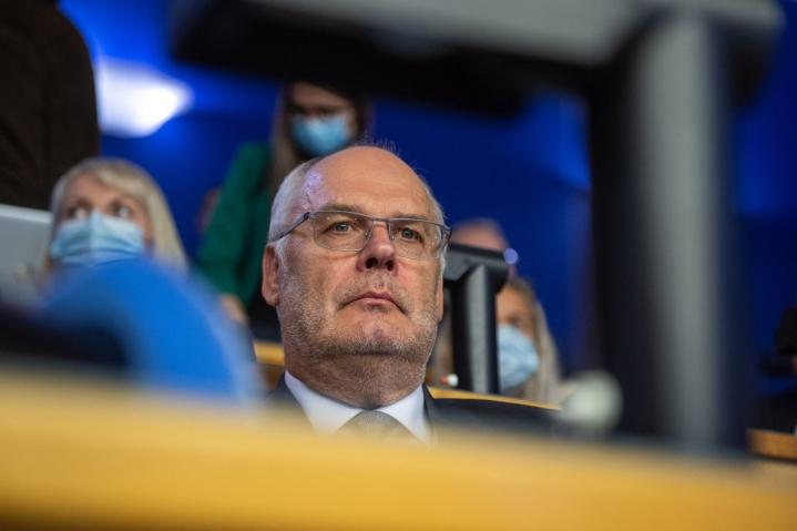 Kyseessä on virkakautensa tällä viikolla aloittaneen presidentti Alan Karisin ensimmäinen ulkomaanmatka Viron presidenttinä.  LEHTIKUVA / AFP