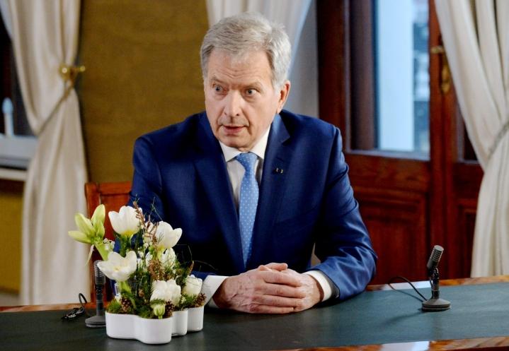 Presidentti Niinistön altistuminen koronavirukselle tapahtui keskiviikkona Malmössä, missä hän keskusteli Latvian presidentti Egils Levitsin kanssa. LEHTIKUVA / Mikko Stig