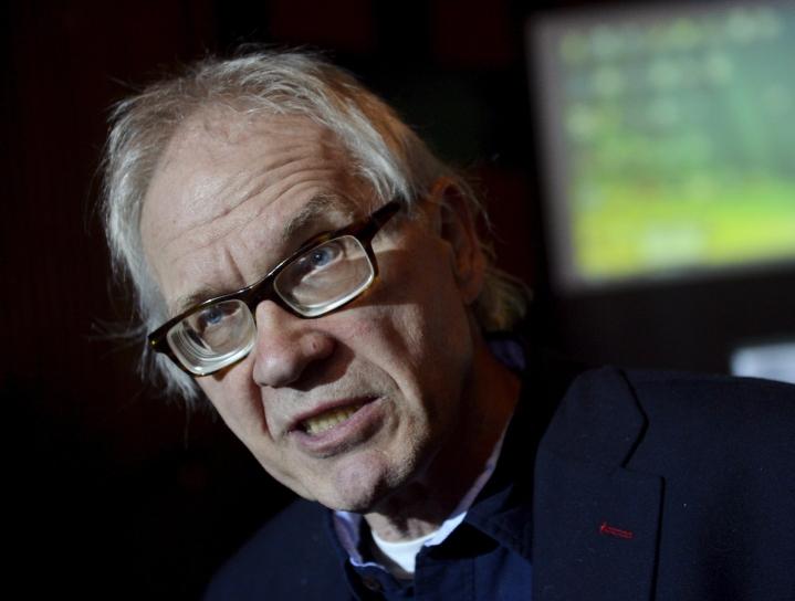 Lars Vilks osallistui Kaivohuoneella Helsingissä 14. huhtikuuta 2015 järjestettyyn sananvapauskeskusteluun.