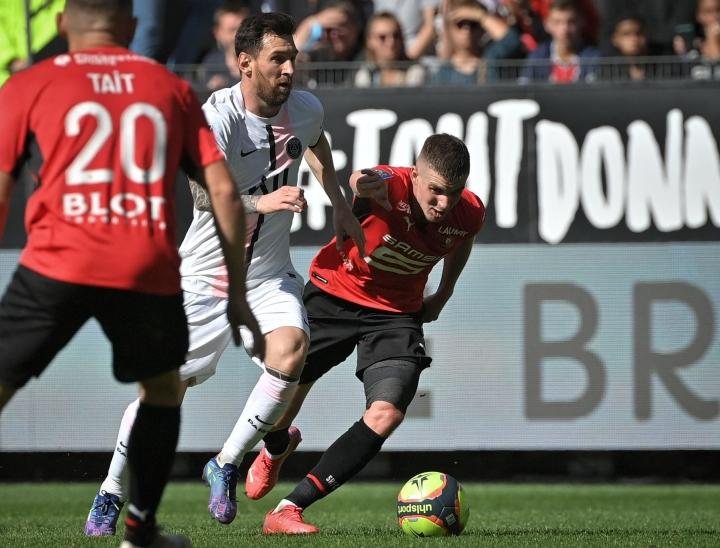 Rennes voitti PSG:n sunnuntaina kotonaan luvuin 2–0. LEHTIKUVA/AFP