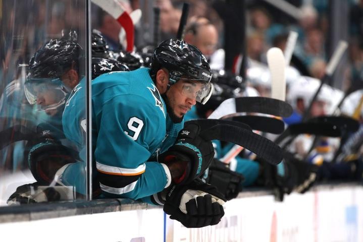 San Jose Sharksin hyökkääjän Evander Kanen epäillään esittäneen väärennetyn koronarokotustodistuksen. LEHTIKUVA/AFP