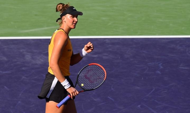 Pliskova hävisi pelin sijoittamatonta brasilialaista Beatriz Haddad Maiaa (kuvassa) vastaan. LEHTIKUVA / AFP