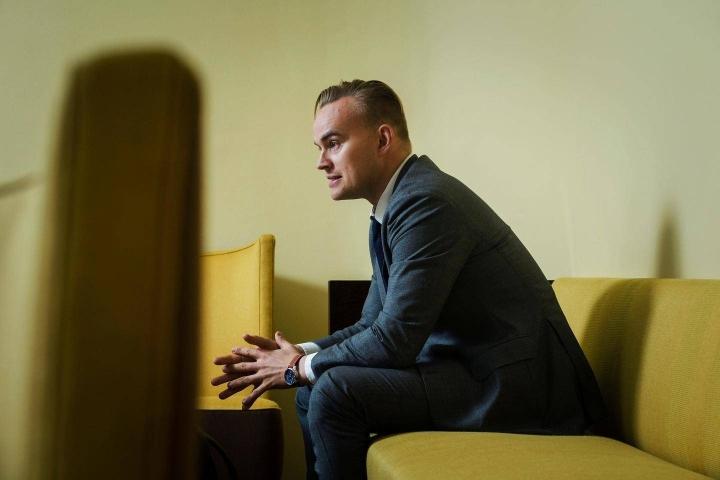 Vihreiden varapuheenjohtaja Atte Harjanne haluaa ministeriksi.