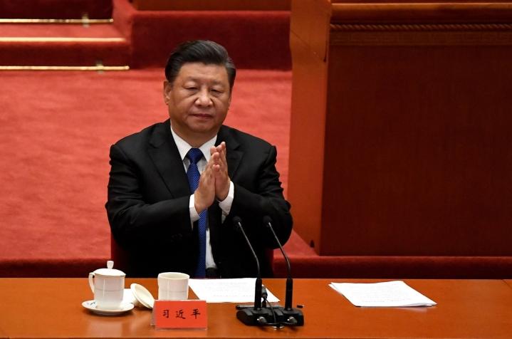 Kiinan presidentti Xi puhui Taiwanista keisarivallan kumoamisen 110-vuotispäivänä. LEHTIKUVA / AFP