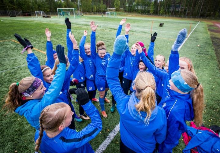 Arkistokuva Yllätyksen D13-tyttöjen joukkueesta vuodelta 2017.