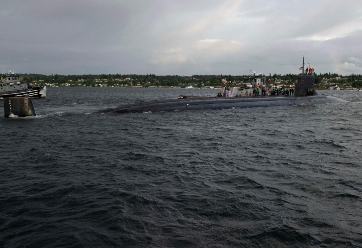 USS Connecticut -alus oli tapahtuma-aikaan tiettävästi Etelä-Kiinan merellä. Arkistokuva aluksesta on Yhdysvaltain laivaston välittämä. LEHTIKUVA / AFP