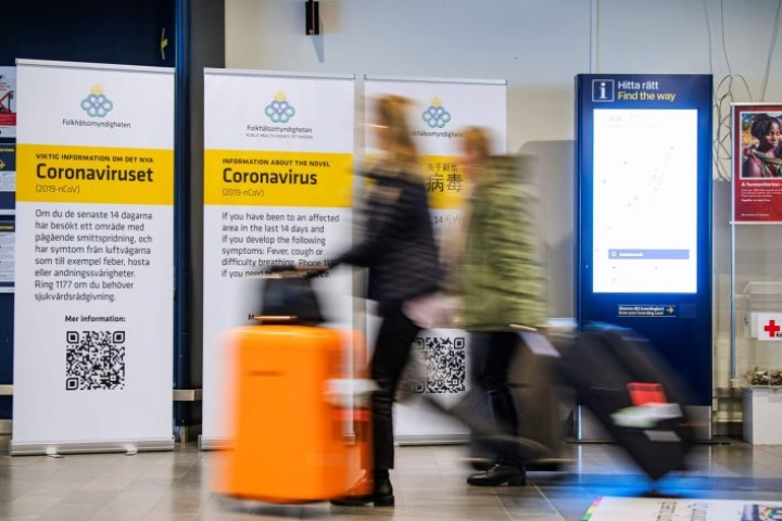 Ruotsissa on todettu yhteensä yli 300 tartunnan saanutta. LEHTIKUVA/AFP