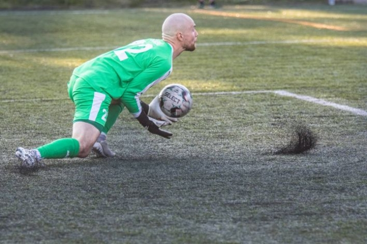 Jipon maalivahti Jirko Sorsa piti nollapelin sunnuntaina vierasottelussa VIFK:iä vastaan. Arkistokuva.