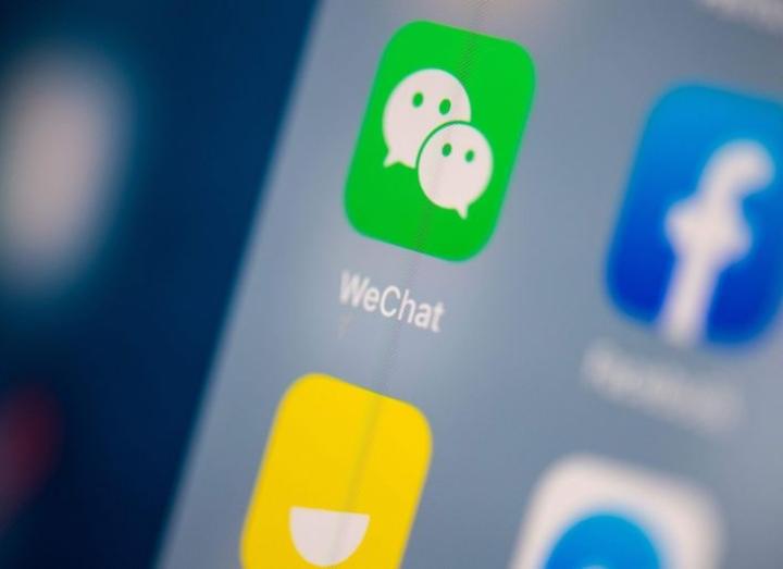 Wechat on erittäin laajasti käytetty sovellus kotimarkkinoillaan Kiinassa ja sillä on Yhdysvalloissakin noin 19 miljoonaa käyttäjää. LEHTIKUVA/AFP