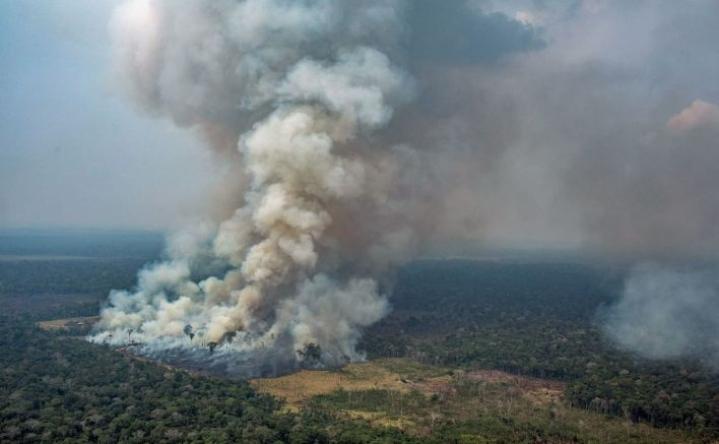 G7-maat aikovat tarjota sammutusapua Brasilian metsäpaloihin. LEHTIKUVA/AFP/GREENPEACE