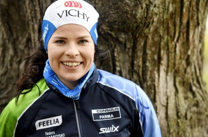 Krista Pärmäkoskella kävi mielessä myös korkean paikan leiristä luopuminen. LEHTIKUVA / Heikki Saukkomaa