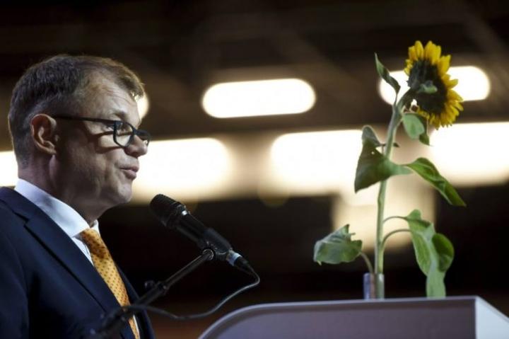 Juha Sipilä piti viimeisen puheensa keskustan puheenjohtajana tänään Kouvolan puoluekokouksessa.