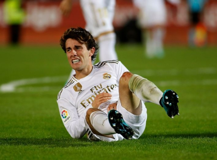 Real-puolustaja Alvaro Odriozolalla ei ollut paras ilta. Lehtikuva/AFP