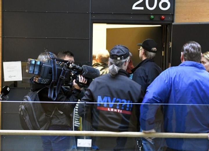 Janitskinin vangitsemismääräystä käsiteltiin Helsingin käräjäoikeudessa lokakuun alussa. LEHTIKUVA / JUSSI NUKARI