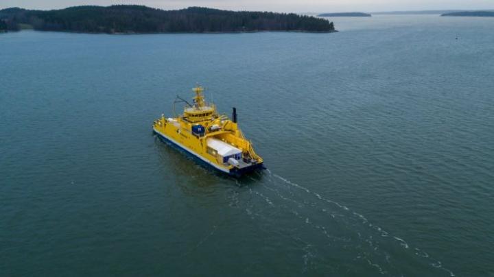 Etäohjattavat tai täysin autonomiset laivat tulevat ensin lyhyille matkoille valtioiden omille aluevesille. LEHTIKUVA / HANDOUT