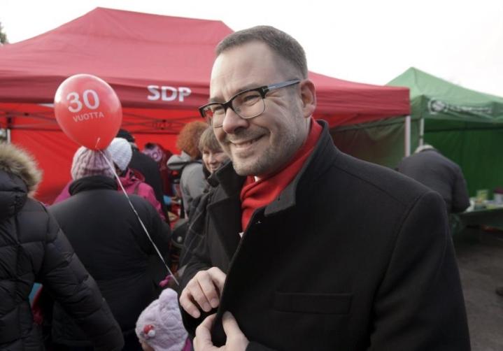 Paananen valittiin puoluesihteeriksi vuonna 2012 Mikael Jungnerin seuraajaksi. LEHTIKUVA / Markku Ulander