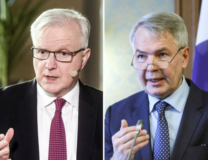 Suomen Pankin pääjohtaja Olli Rehn (kesk.) ja ulkoministeri Pekka Haavisto (vihr.) ovat omiensa keskuudessa suursuosikkeja presidenttiehdokkaiksi.