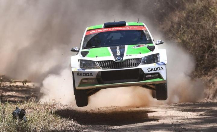 Esa-Pekka Lappi oli ylivoimainen Australian rallin WRC2-luokassa. LEHTIKUVA/AFP