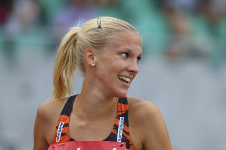 Kisoihin aiemmin valittu estejuoksija Camilla Richardsson jää pois nilkkamurtuman takia. LEHTIKUVA / Tommi Anttonen