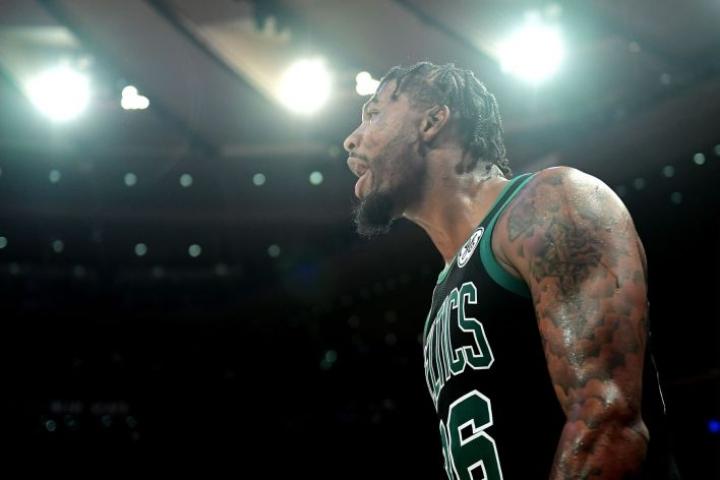 Boston Celticsin pelaaja Marcus Smart sai 15 000 dollarin sakot. LEHTIKUVA/AFP