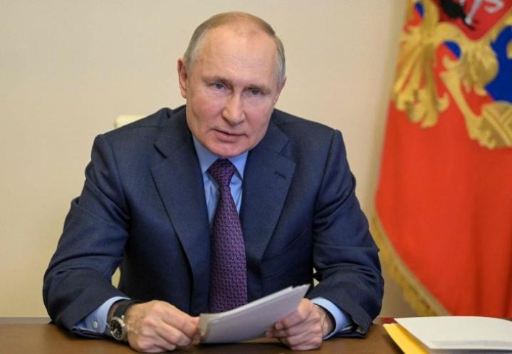 Putinin puhe ajoittuu keskelle useita päällekkäisiä kriisejä niin kansainvälisissä suhteissa kuin kotimaassa. Lehtikuva / AFP