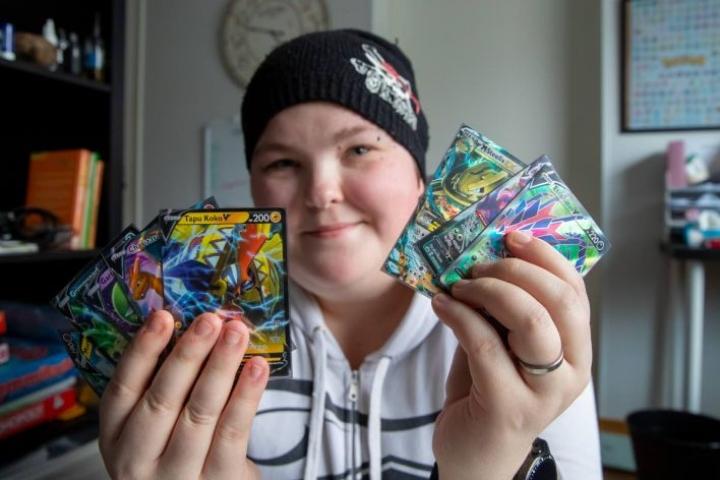 Mirka Sallisen kokoelmasta löytyy myös harvinaisempia kortteja.
