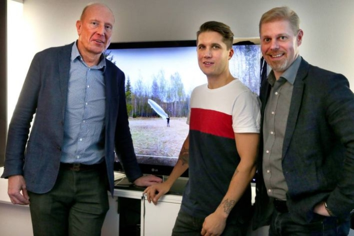 Harri Palviainen (vas.), Jiri Jormakka ja Kari Pulkkinen kertoivat uudesta rahastosta, joka tukee Joensuun seudun aloittavia yrityksiä.